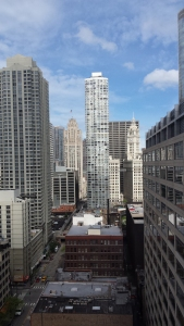 View from our hotel room. Historical Wrigley Building.
